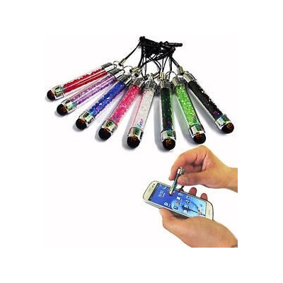 1 mini pennino capacitivo touch screen colorato con attacco cuffie per smartphone