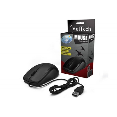 Mouse USB ottico Vultech MOU-958 con scroll e  sensore da 1000 DPI