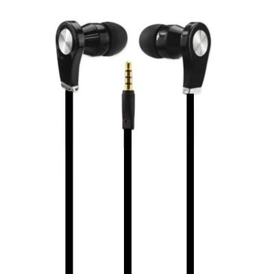Cuffiette Auricolori In-Ear nere lunghe 1 metro da 3.5mm - Magena D28