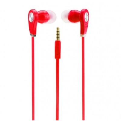 Cuffiette Auricolori In-Ear rosse lunghe 1 metro da 3.5mm - Magena D28
