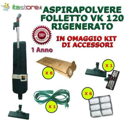 Aspirapolvere Vorwerk Folletto mod. VK 120 rigenerato con omaggi e garanzia
