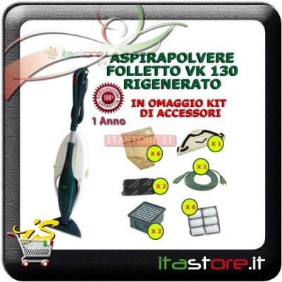 Aspirapolvere Vorwerk Folletto mod. VK 130 rigenerato con omaggi e garanzia