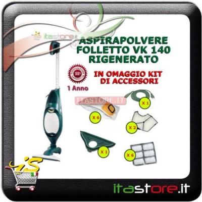 Aspirapolvere Vorwerk Folletto mod. VK 140 rigenerato con omaggi e garanzia