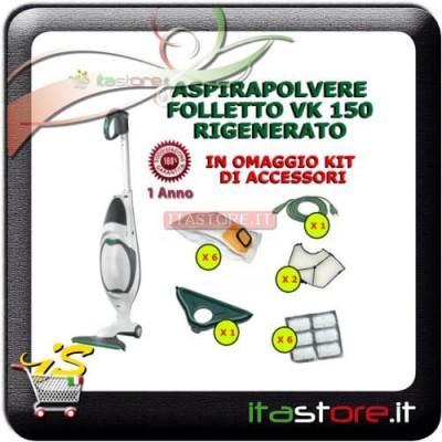 Aspirapolvere Vorwerk Folletto mod. VK 150 rigenerato con omaggi e garanzia