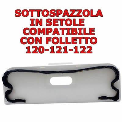 Sottospazzola con setole per spazzole compatibile Folletto Vk 120 121 122