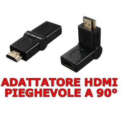 Adattatore pieghevole HDMI maschio femmina a 90° per spazi stretti