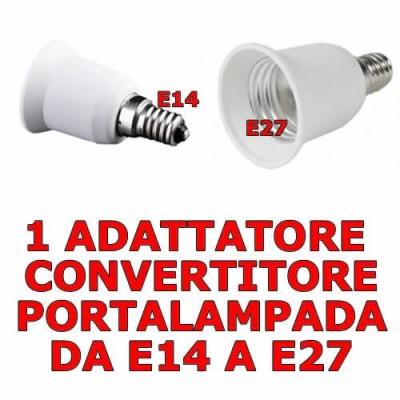Adattatore convertitore portalampada da E14 piccolo a E27 grande