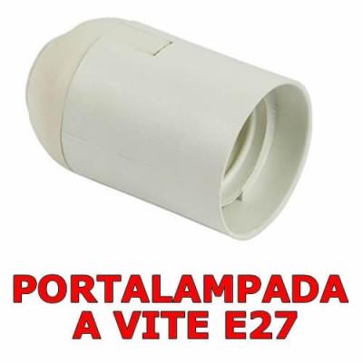 Portalampada per lampadine a vite E27 colore bianco
