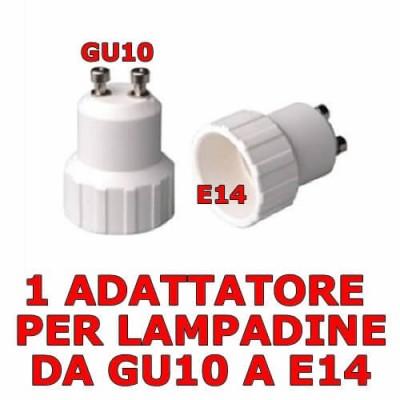 Adattatore convertitore riduzione lampada da GU10 a E14
