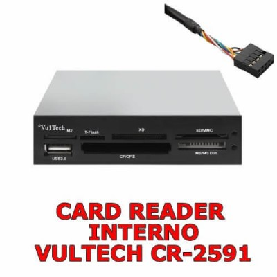 "Card reader interno 3.5"" per computer 54 in 1 con SDXC Vultech CR-2591"