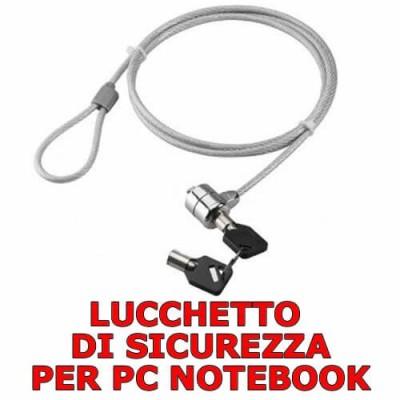 Lucchetto di sicurezza cavo antifurto per PC notebook con 2 chiavi lungo 100 cm