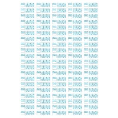 100 Sigilli di garanzia blu bollini etichette antimanomissione ultradistruttibili adesivi antirimozione