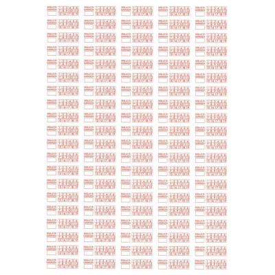 1000 Sigilli di garanzia rossi bollini etichette antimanomissione ultradistruttibili adesivi antirimozione