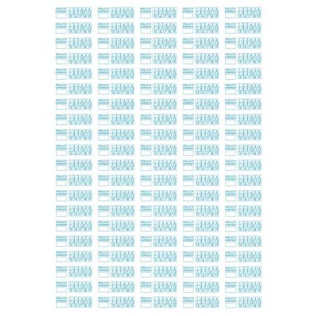 1000 Sigilli di garanzia blu bollini etichette antimanomissione ultradistruttibili adesivi antirimozione
