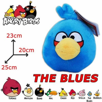 Peluche Angry Birds THE BLUES uccello blu - giocattolo Originale con cartellino