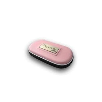 Borsello rosa per console PSP custodia con cerniera per playstation PSP