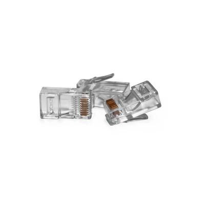 VULTECH CONNETTORI PLUG TRASPARENTI RJ45 (CONF. 50PZ) - SN21401