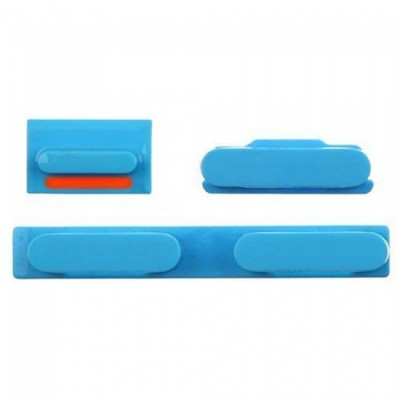 SET PULSANTI LATERALI VOLUME + ACCENSIONE + SILENZIOSO PER IPHONE 5C BLUE IP5C-111