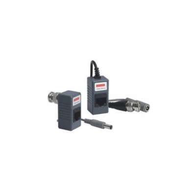 VIDEO BALUN 1CH VIDEO/300M DC/100M RJ45 PER CAVO UTP CAT.5 - VS-VB-KS202-DC