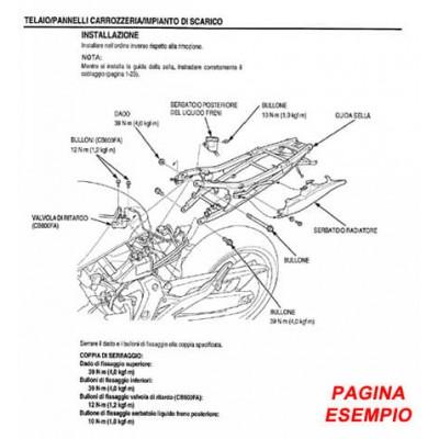 E1912 Manuale officina per moto Kawasaki Z1000 ZR1000 del 2003 in PDF italiano